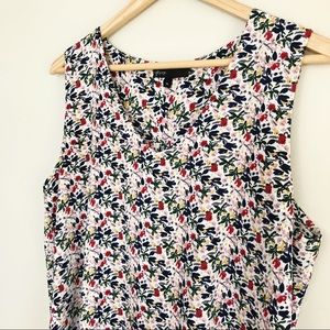 Gibson Stretch Crepe Reagan Floral Top